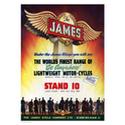 James Motorcycles Advertising Poster