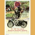 AJS 500 twin Motorcycle Advertising Poster