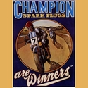 Champion Spark Plugs Poster