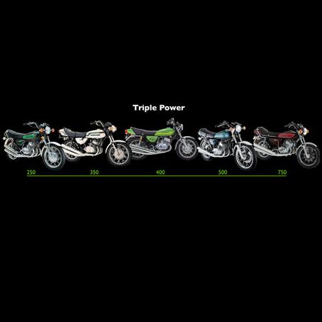 SoCal Classic Kawasaki H1 H2 250 350 400 500 & 750 T-shirt