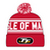 16Bobble2 Red Bobble Hat