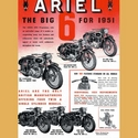 1951 Ariels Big Six Advertising Poster