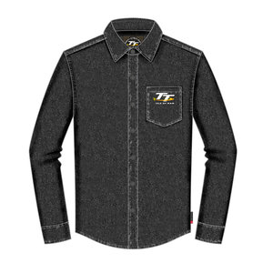 19ADS1 - TT Denim Shirt. OFFICIAL TT MERCHANDISE