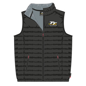 20ABW1 - Black TT Bodywarmer (Gilet). Official Isle of Man TT