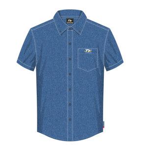 20ADS2 - TT Blue Denim Shirt. OFFICIAL TT MERCHANDISE