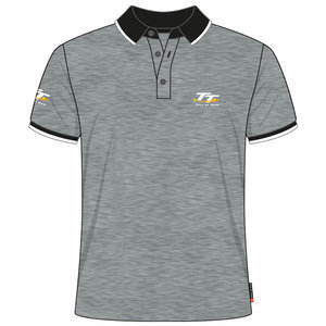 20AP8 - Grey TT Polo Shirt Official Isle of Man
