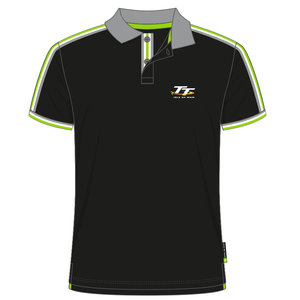 20AP9 - Black Polo Shirt Official Isle of Man