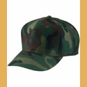 6 Panel Camouflage Cap