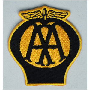 AA 50mm Diameter Vintage Embroidered Patch