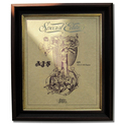 AJS 350-500 Gold Leaf Limited Edition Engine Drawing