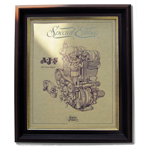 AJS 650 TWIN Gold Leaf Limited Edition Engine Drawing
