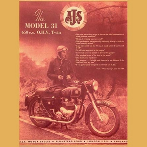 AJS 650 Twin Advertising Poster