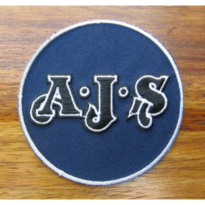AJS 75mm Diameter Vintage Embroidered Patch
