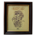 AJS R7 350 Gold Leaf Limited Edition Engine Drawing