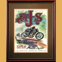 AJS Racing Advertising Poster