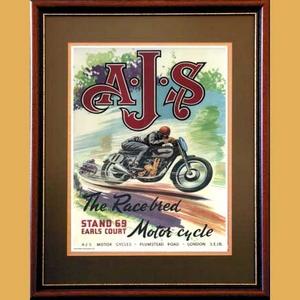 AJS Racing Advertising Poster