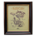 ARIEL Square Four Gold Leaf Limited Edition Engine Drawing