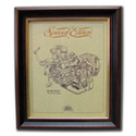 BROUGH SUPERIOR Gold Leaf Limited Edition Engine Drawing