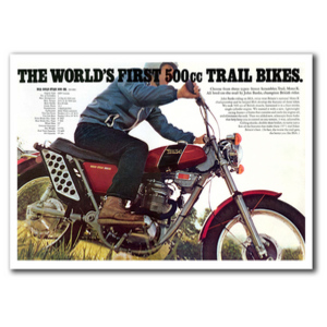 BSA 500 Trail Bike Vintage Motorcycle Poster