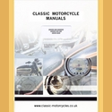 BSA 500cc SV 1940 to 45 Instruction book