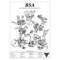 BSA A10 650 Golden Flash & Road Rocket Engine Spec Poster