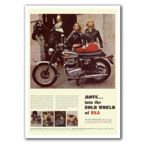 BSA A65 Vintage Motorcycle Poster