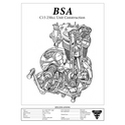 BSA C15 250cc Engine Spec Poster