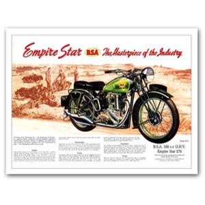 BSA Empire Star 500 Advertising Poster