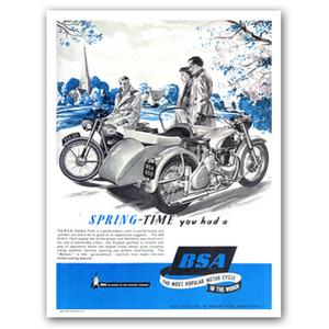 BSA Golden Flash 650 Advertising Poster