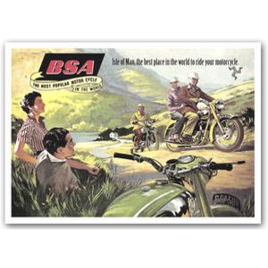BSA Isle of Man Advertising Poster