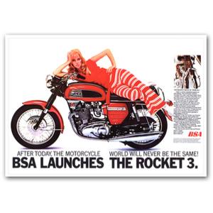 BSA Rocket3 750 Advertising Poster
