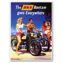 BSA bantam Motorcycle Advertising Poster