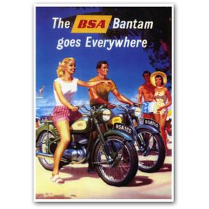 BSA bantam Motorcycle Advertising Poster