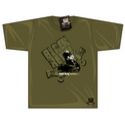 Black Rebel Classic Racing T-shirt Khaki