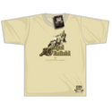 Black Rebel Royal Enfield Gun T-shirt Sand