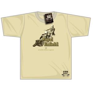 Black Rebel Royal Enfield Gun T-shirt Sand