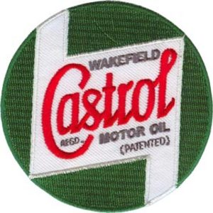 Castrol 75mm Diameter Vintage Embroidered Patch