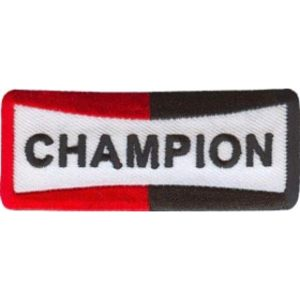 Champion 75mm x 30mm Vintage Embroidered Patch