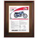 Ducati Diana 250 Motorcycle Advertising Poster