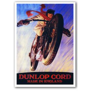 Dunlop Vintage Motorcycle Poster