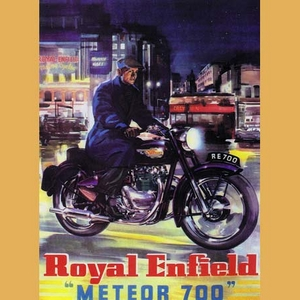 Enfield Meteor 700 Twin Advertising Poster
