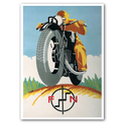 FN Motorcycle Advertising Poster