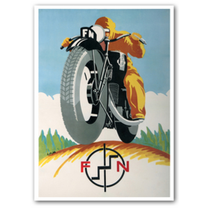 FN Motorcycle Advertising Poster