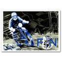 FN Motorcycle Advertising Poster Blue