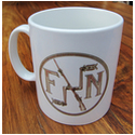 FN Motorcycle and Logo Mug
