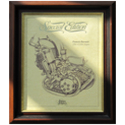 FRANCIS BARNETT Gold Leaf Limited Edition Engine Drawing