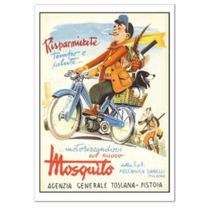 GARELLI MILANO Motorcycle Vintage Poster