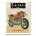 LAVERDA Motorcycle Vintage Poster