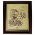 GREEVES 197 Gold Leaf Limited Edition Engine Drawing
