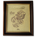 GREEVES 250 Gold Leaf Limited Edition Engine Drawing